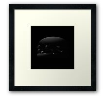Black Burger Framed Print
