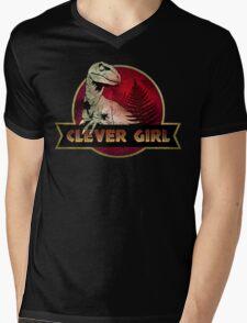 Clever Girl Mens V-Neck T-Shirt