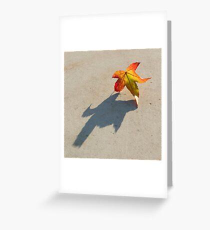 Shadow of a leaf Greeting Card