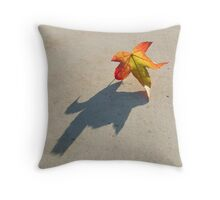 Shadow of a leaf Throw Pillow