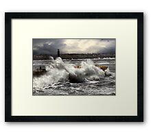 Storm, Margate pier Framed Print