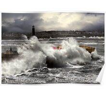 Storm, Margate pier Poster