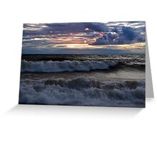 Waves on the Shore Greeting Card