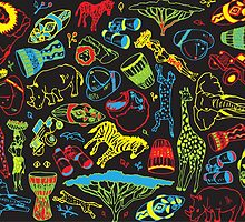 Colourful Pattern design: South Africa by Aimee Stewart