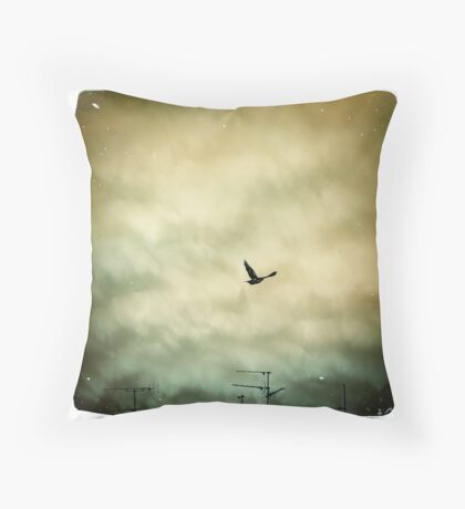 Flying Away... Throw Pillow