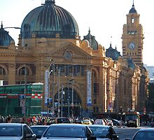 Flinders Street Station Melbourne, Victoria, Australia by Swampfox