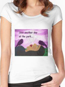 """""""Just Another Day"""" art products Women's Fitted Scoop T-Shirt"""