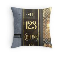 And at 123 Collins Street Throw Pillow