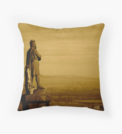 Robert The Bruce on Stirling Castle Esplanade Throw Pillow