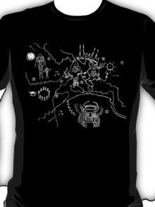 Twin Peaks Owl Cave Map Petroglyph T-Shirt
