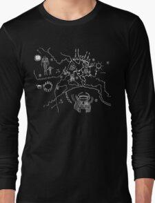 Twin Peaks Owl Cave Map Petroglyph Long Sleeve T-Shirt