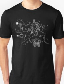 Twin Peaks Owl Cave Map Petroglyph T-Shirt