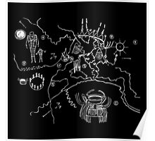 Twin Peaks Owl Cave Map Petroglyph Poster