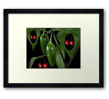 Life aint nothing like a bowl of cherries, There's too little laughter and too much sorrow. It's more like a taste of jalapenos.PICTURE,CARD,TRAVEL MUG. Framed Print