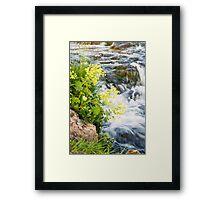Waterfalls in Ellida River #4 Framed Print