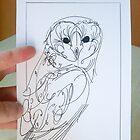 barn owl. by loriotndorr