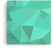 3D triangles Graphic - Teal Canvas Print