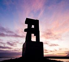 Sunset at Hallsteinshöfða #1 by Stefán Kristinsson