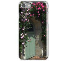 Green Garden Gate With Bench iPhone Case/Skin