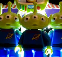 Lego Buzz with Alien friends Sticker
