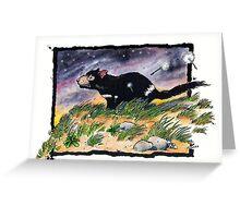 Tasmainan devil on a windy night Greeting Card