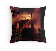 071506-4  CLEVELAND FIREFIGHTERS ON THE JOB Throw Pillow