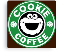 Cookie Coffee Canvas Print