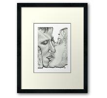 Kiss White Framed Print
