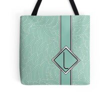 1920s Blue Deco Swing with Monogram letter L Tote Bag