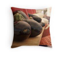 eggplant display Throw Pillow