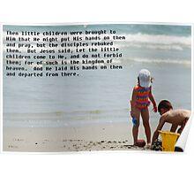 Jesus loves His children Poster