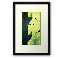 City shadow Framed Print