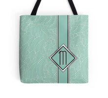 1920s Blue Deco Swing with Monogram letter M Tote Bag