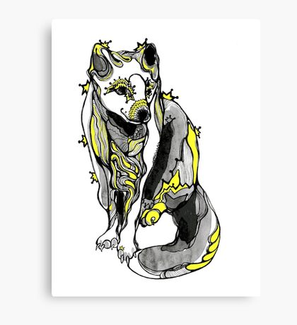 polar fox Canvas Print
