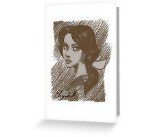 Elizabeth | French portrait Greeting Card