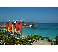 Hobie cats on the beach Photographic Print