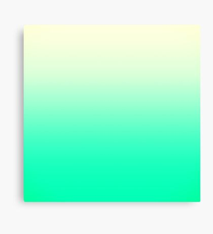 Trendy Teal to Vintage White Ombre Gradient Canvas Print