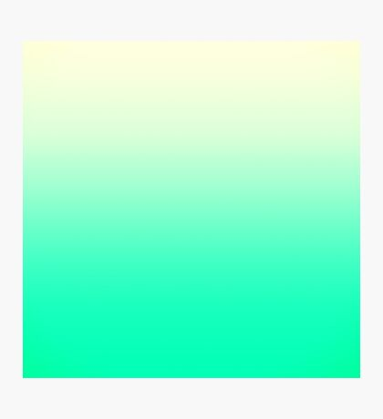 Trendy Teal to Vintage White Ombre Gradient Photographic Print