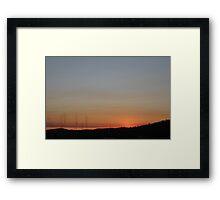 Sunset Beyond The Fields Framed Print