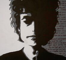 Bob Dylan Pop Art - Times are Changin' by Carrie-ann