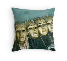 theatre masks Throw Pillow