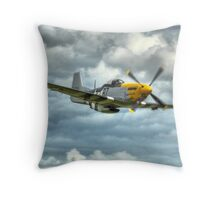 P51 Mustang - Ferocious Frankie Throw Pillow