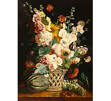fruits and flowers  after A. Berjon Photographic Print