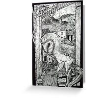 Barn Owl at home. Greeting Card