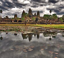 Dark clouds over Angkor Wat by Adri  Padmos