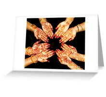 The Art Of Henna Body Painting  Greeting Card
