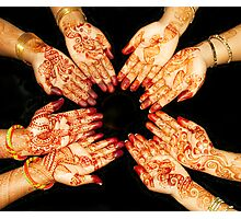 The Art Of Henna Body Painting  Photographic Print