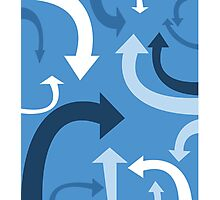 arrows (blue) Photographic Print