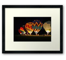 Light up the night!  Glowing the balloons! 605 views! Framed Print