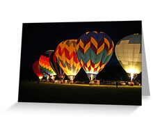 Light up the night!  Glowing the balloons! 605 views! Greeting Card